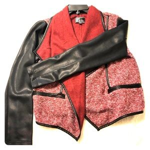 Kut from the Kloth black and crimson short jacket
